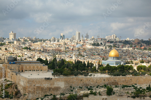 Dome of the Rock, Omar Mosque and the Dome of the Holy Sepulcher