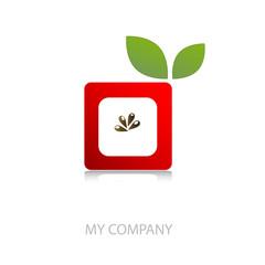 Logo innovative apple # Vector