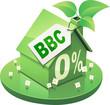 Maison vert BBC et prêt à taux zéro (détouré)