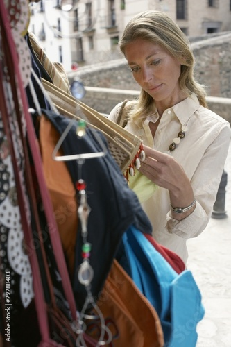 Woman Looking at Goods