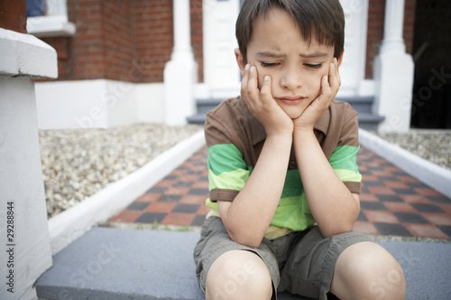 Quotes About Little Boys Quot Sad Little Boy Sitting on