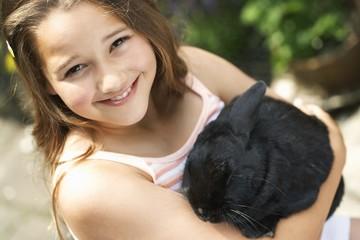 Girl Holding Rabbit