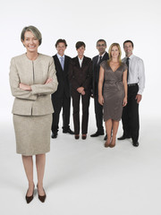 Proud Businesswoman, group behind