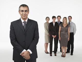 Proud Businessman, group behind