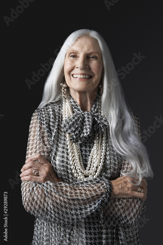 Senior Woman with Arms Folded, smiling