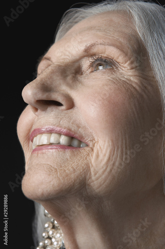 Senior Woman, looking up