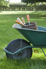 Wheelbarrow Full of Gardening Tools