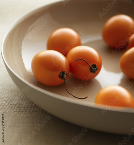 Cherry Tomatoes in Bowl, close-up