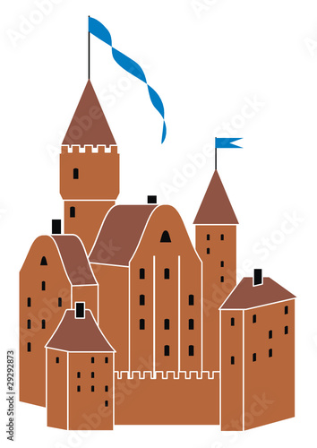 Vector  medieval knight's castle
