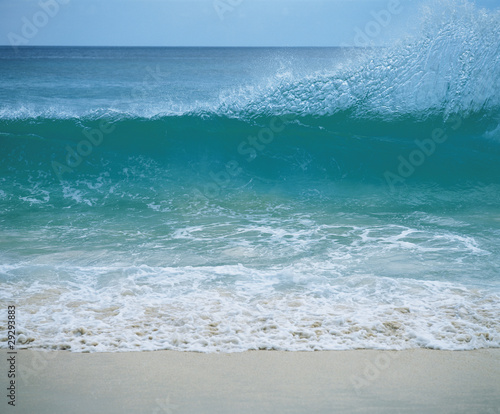 Wave breaking on shore