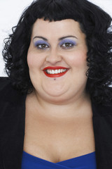 Overweight Woman Smiling, portrait
