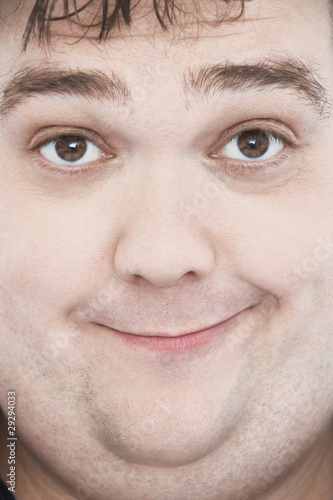 Overweight Man with Funny Expression, portrait, close up of face
