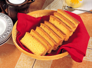 Cake Rusk in Basket