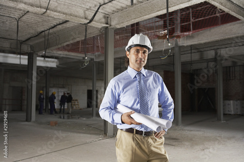Site manager on construction site