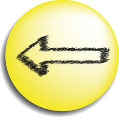 Button back Yellow - Knopf zurück gelb