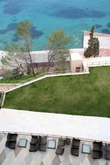 Seaside view from balcony