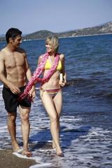 Mature adult couple on beach