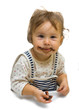 Toddler girl with chocolate