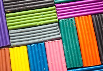 Set colorful plasticine