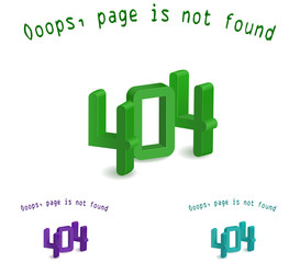 3d 404 letter - page not found