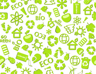 go green eco seamless pattern