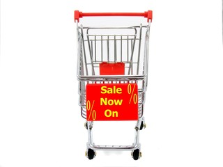 Shopping Trolly with Sale Sign