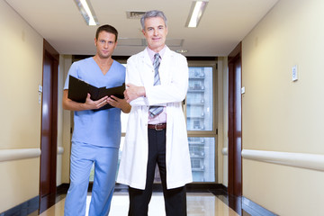 A doctor and a male nurse
