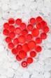Heart of plastic lids
