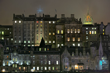 Edinburgh, Scotland, Old Town, mediaeval high rise buildings