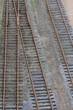 Eisenbahngleise und Weiche