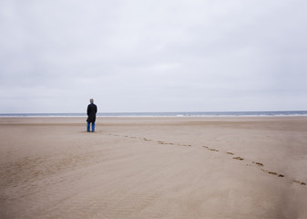 A man at the beach