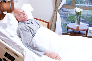Elederly man in hospital