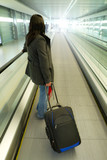 Business travel with luggage poster