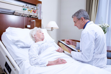 Doctor visiting a patient