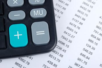 Calculator and financial data