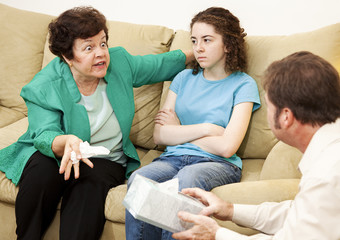 Angry Mother and Daughter Therapy