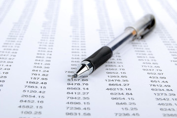 Pen and financial data