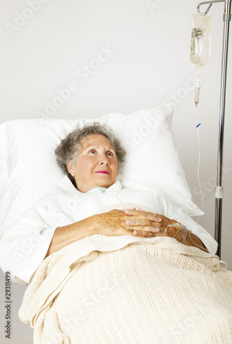 Lonely Senior in Hospital