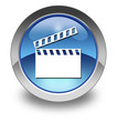 """Glossy Pictogram """"Clapperboard"""""""
