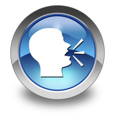 """Glossy Pictogram """"Talking Head / Forum / Discussion"""""""