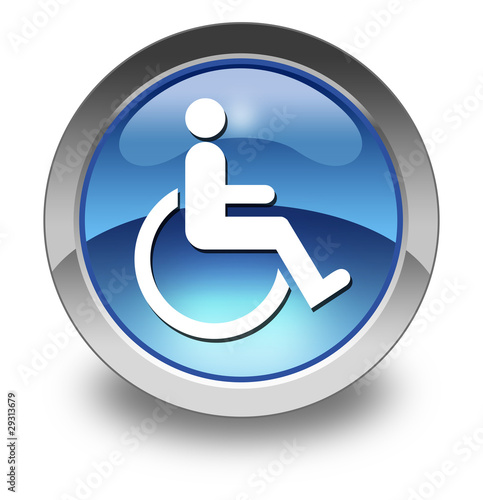 "Glossy Pictogram ""Disability Access Symbol"""