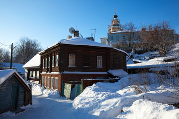 Old street  in winter