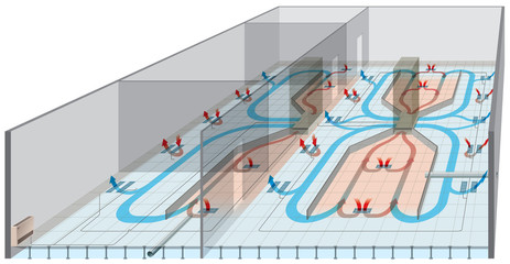 Underfloor heating and ventilation