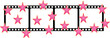 Film shape with stars - vector
