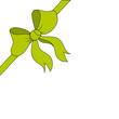Geschenkschleife in grün