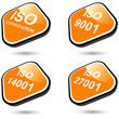 iso zertifizierung zeichen symbol icon