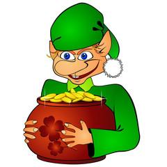 Elf and treasure