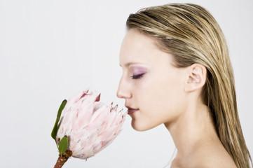 Der Duft der Blume-Wohlbefinden.