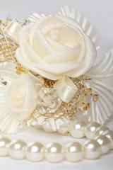 Satin wedding rose