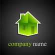 logo maison origami 1 (vert sur fond noir)